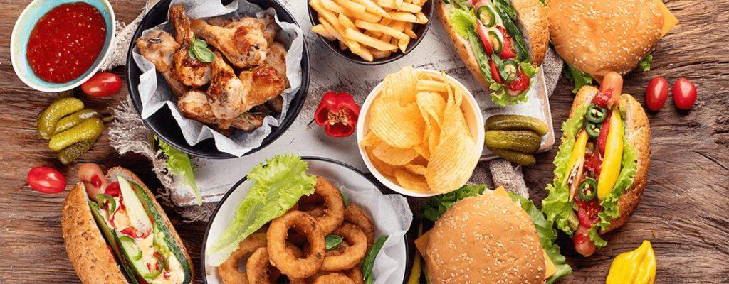 Fetthaltige Speisen